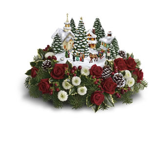 boston kinkade christmas flowers
