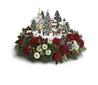 boston kinkade christmas flowers