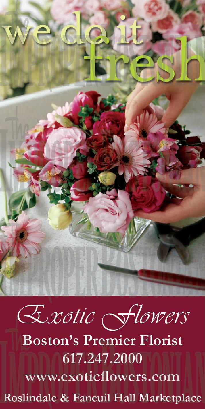 Exotic Fresh Flowers Ad
