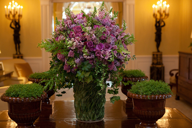 Flowers at the White House Obama Style