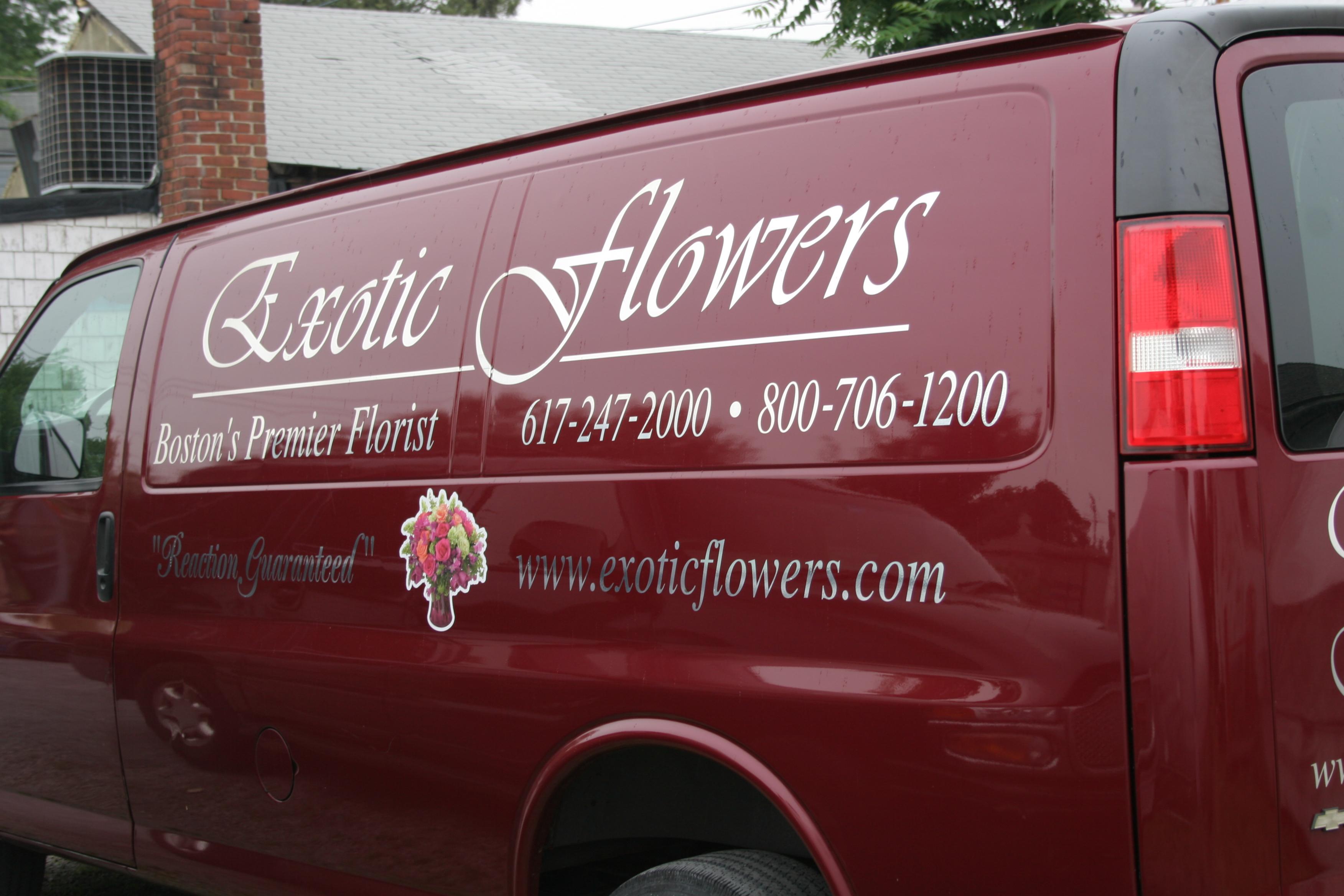 Exotic Flowers Chevy Cargo Van