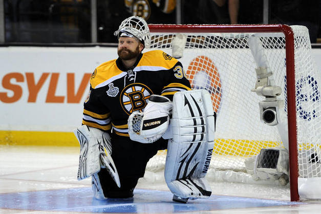 Tim Thomas 2011 Stanley Cup Finals Canucks vs Bruins Game 3 photo medium