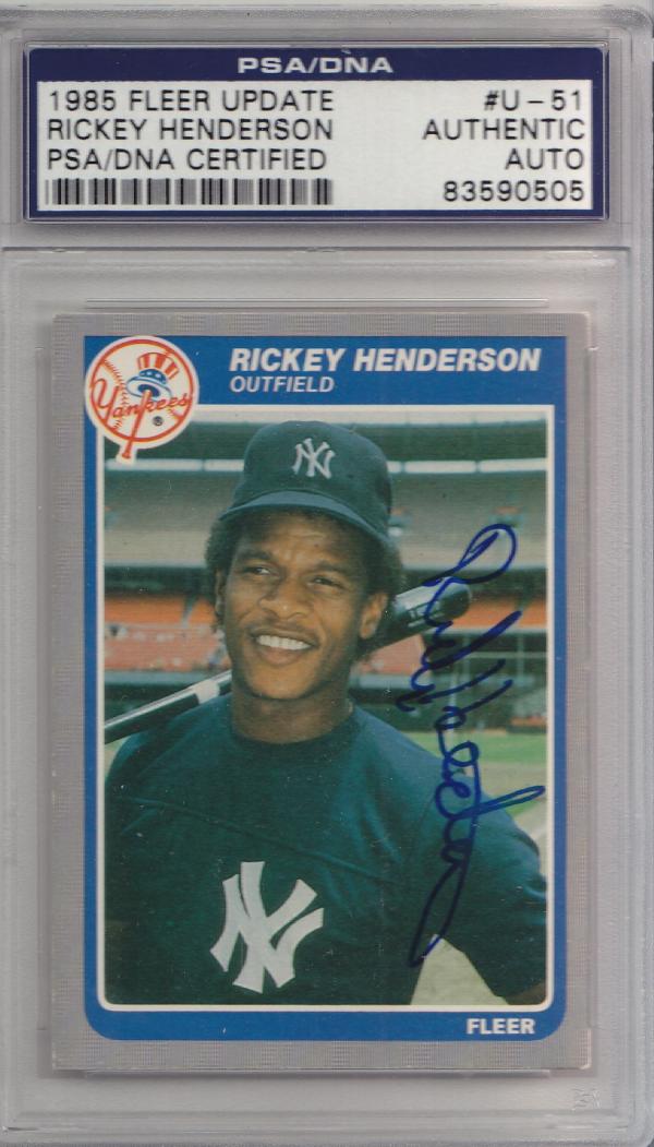 Rickey Henderson Autograph
