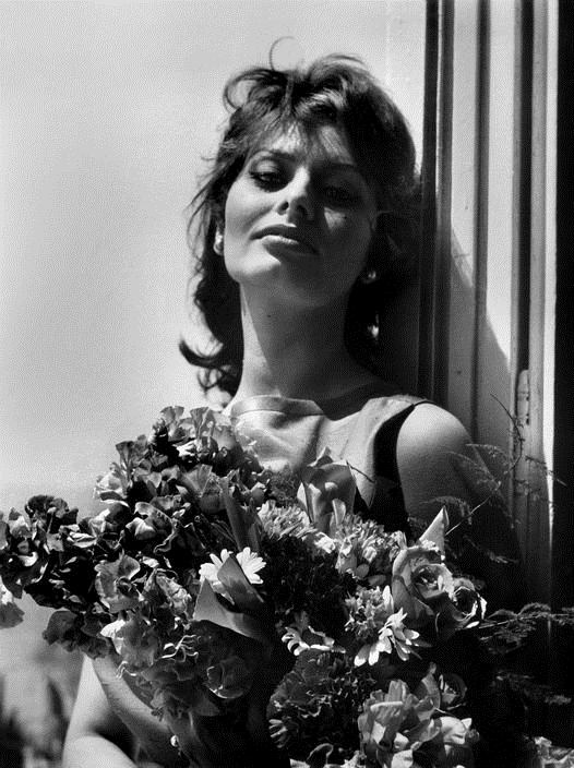 Sophia Loren with Flowers