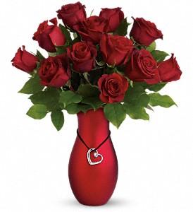 valentines roses red vase boston