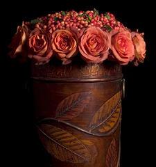 vintage flower vase