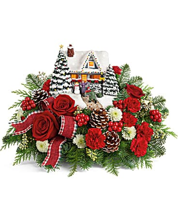 Thomas Kinkade Christmas Flowers
