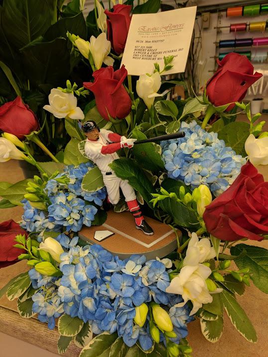Baseball Inspired Flower Arrangements