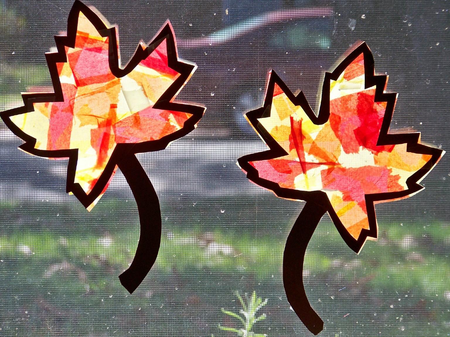 Image result for Leaf Sun-catchers!