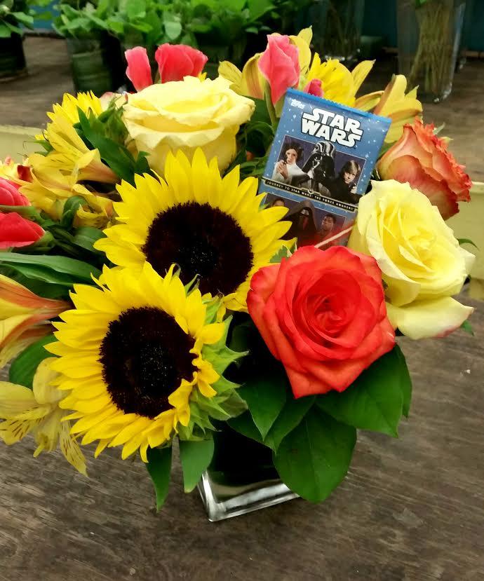 A Star Wars Inspired Flower Bouquet